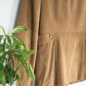 Eddie Bauer Jackets & Coats - Tan Leather Suede Coat by Eddie Bauer